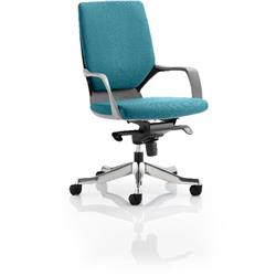 Xenon Executive Chair Black Medium Aqua Back Kingfisher Colour With Arms Ref KCUP0631
