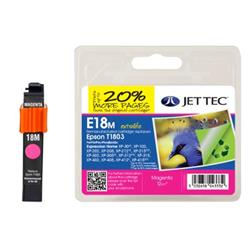 Jet Tec Epson Compatible T1803 (12ml) Remanufactured Inkjet Cartridge