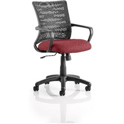 Vortex Task Operator Chair Chilli Colour Seat Fabric With Arms Ref KCUP0606