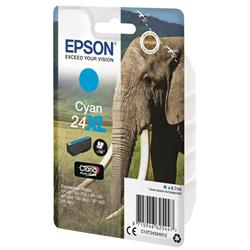 Epson 24XL Inkjet Cartridge Capacity 8.7ml Page Life 740pp Cyan Ref C13T24324012