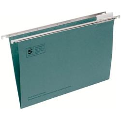 5 Star Office Suspension File Manilla Heavyweight with Tabs and Inserts Foolscap Green [Pack 50]