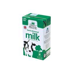 Dairy Pride Semi Skimmed Longlife Milk 1 Litre Ref 101629 [Pack 12]