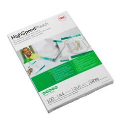 GBC Hi-Speed Laminating Pouches 150 Micron A4 Ref 3747347 (100 Pack)