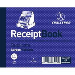 Challenge Duplicate Book Gummed Sheets Carbon Receipt 2-to-View 100 Sets 105x130mm Ref 100080444 - Pack 5