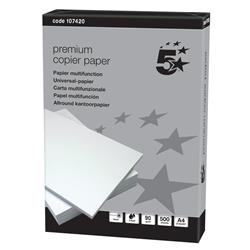 5 Star Elite Copier Paper Smooth Ream-Wrapped 90gsm A4 High White [500 Sheets]