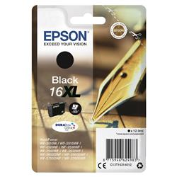 Epson 16XL Inkjet Cartridge Pen & Crossword Page Life 500pp Black Ref C13T16314012
