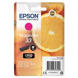 Epson Oranges 33 (4.5 ml) Claria Premium Magenta Ink Cartridge for Expression Premium XP-530/XP-630/XP-635/XP-830 Printers