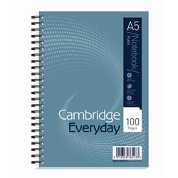 Cambridge Notebook Wirebound Ruled Punched Perforated Margin 60gsm 100pp A5 Ref 100080190 [Pack 10]