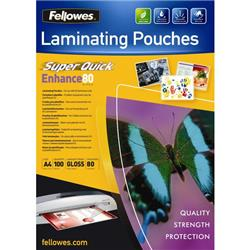 Pouches SuperQuick Fellowes - 80 my - 5440001 - conf. 100