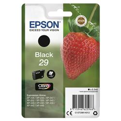 Epson No. 29 InkJet Cartridge 175pp 5.3ml Black Ref C13T29814012