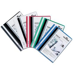 Durable Duraplus Quotation Filing Folder PVC with Clear Title Pocket A4 Assorted Ref 2579/00 - Pack 25