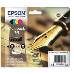 Epson 16 Inkjet Cartridge Pen & Crossword Multipack C/M/Y/K Ref C13T16264012 [Pack 4]