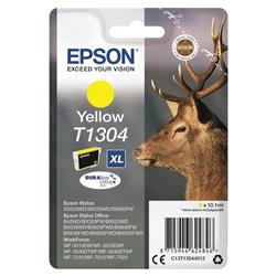 Epson T1304 Inkjet Cartridge DURABrite Stag XL Capacity 10.1ml Yellow Ref C13T13044012
