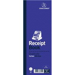 Challenge Receipt Book Gummed Sheets with Carbon 4 to View 200 Receipts 241x92mm Ref 100080450 - Pack 10