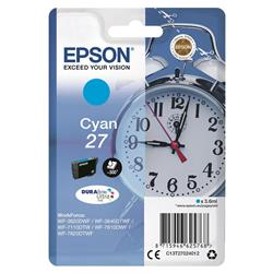 Epson WF3620 Alarm Clock Inkjet Cartridge Cyan Ref C13T27024010