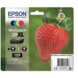 Epson No. 29XL InkJet Cartridge 470pp Black 450pp Colour CMYK Ref C13T29964012 [Pack 4]