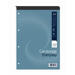 Cambridge Refill Pad Headbound Narrow Ruled Margin Punched 4 Holes 70gsm 160pp A4 Ref 100080168 - Pack 5