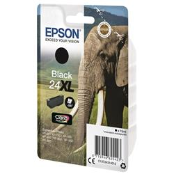 Epson 24XL Inkjet Cartridge Capacity 10ml Page Life 500pp Black Ref C13T24314012