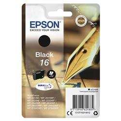 Epson 16 Inkjet Cartridge Pen & Crossword Page Life 175pp Black Ref C13T16214012