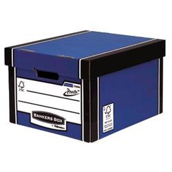 Bankers Box Premium Storage Box Classic FSC Blue and White [Pack 12] [12 for the price of 10] Ref 7250603