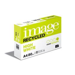 Image Recycled High White 100%Recycled A4 210X297mm 80Gm2 Ref 69058 [Pack 2500]