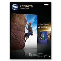 Hewlett Packard [HP] Advance Photo Paper Gloss 250gsm 130x180mm Ref Q8696A [Pack 25]