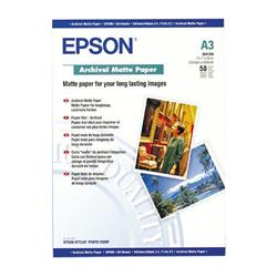 Epson Archival Matte Paper 192gsm A3 Ref C13S041344 [Pack 50]