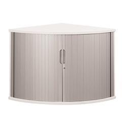 Sonix Tambour Corner Cupboard 800mm Polar White