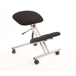 Trexus Operator Chair Flat Packed Fabric Black/Silver Ref OP000072