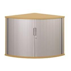 Sonix Tambour Corner Cupboard 800mm Natural Oak