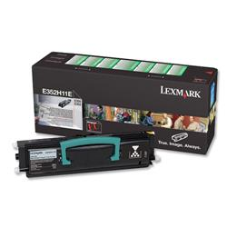 Lexmark Laser Toner Cartridge Return Program Page Life 9000pp Black Ref E352H11E