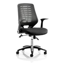 Relay Task Operator Chair  Seat Black Back With Arms Ref OP000115