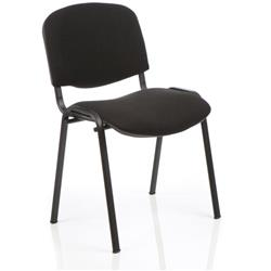 Club Pyra Stacking Chair Black Fabric Black Frame Without Arms Ref CH0500BK