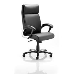Romeo Executive Folding Chair Black Bonded Leather With Arms Ref EX000063