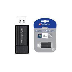 Chiavetta USB Store 'n' Go Pinstripe Verbatim - 8 GB - nero