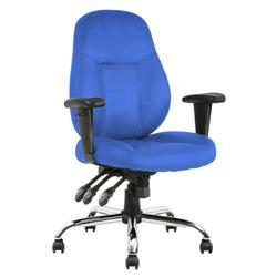 Storm Task Operator Chair Blue Fabric With Arms Ref OP000128