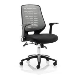 Relay Task Operator Chair  Seat Silver Back With Arms Ref OP000116