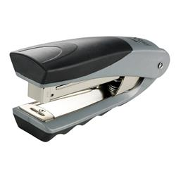 Rexel Centor Half Strip Stapler Vertical 60mm Throat 26/6 24/6 for 20 Sheets Silver and Black Ref 2100595