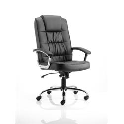 Moore Deluxe Executive Chair Black Bonded Leather With Arms Ref EX000045