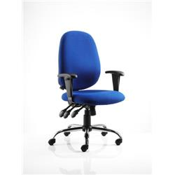 Lisbon Task Operator Chair Blue Fabric With Arms Ref OP000074