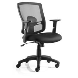 Portland Task Operator Chair Black Mesh With Arms Ref OP000105