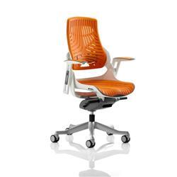 Zure Executive Chair Elastomer Gel Orange With Arms Ref EX000133
