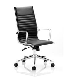 Ritz Executive Chair Black Bonded Leather High Back With Arms Ref EX000057