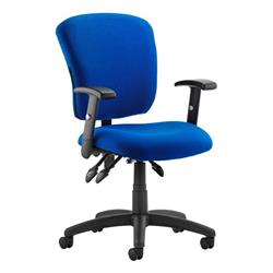 Toledo Task Operator Chair Blue Fabric With Arms Ref OP000134