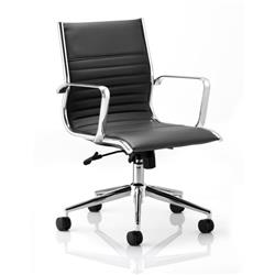 Ritz Executive Chair Black Bonded Leather Medium Back With Arms Ref EX000059