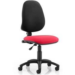 Eclipse I Task Operator Chair Cherry Colour Without Arms Ref KCUP0209