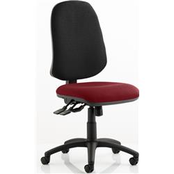 Eclipse XL Task Operator Chair Chilli Colour Seat With Arms Ref KCUP0254