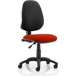 Eclipse I Task Operator Chair Pimento Colour Without Arms Ref KCUP0212