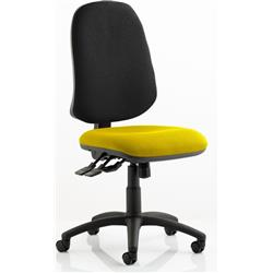 Eclipse XL Task Operator Chair Sunset Colour Seat With Arms Ref KCUP0253