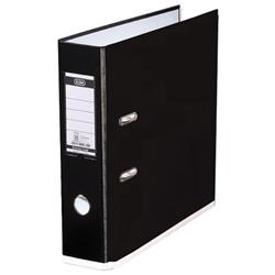 Elba MyColour Lever Arch File Polypropylene Capacity 80mm A4 Black and White Ref 100081033